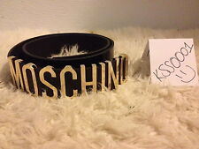 MOSCHINO DESIGNER BELT With Gold Letters Vintage New