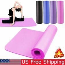 Yoga Mat Exercise Mats High Density Padding Workout Gym Fitness Training Pad US
