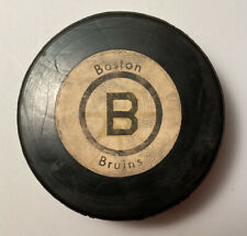 Vintage Boston Bruins NHL Official Hockey Puck Crested Rawlings 1970's