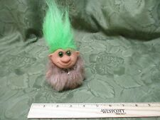 Hasbro Trolls Vintage Figure Hairy Clothes Bones Cave Man Green Hair Part Troll
