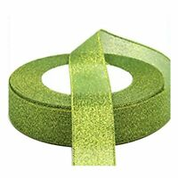 22 Metres 25mm Double Sided Satin Glitter Ribbons Bling Bows Reels Wedding J3Q6