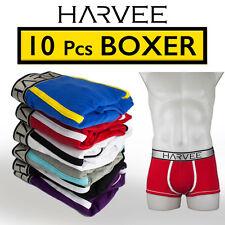 NEW 10 PCS Male's Boxer Underwear HARVEE Cotton Trunk Brief Short Undies CK2016B