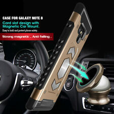 For Samsung Galaxy Note 8 /Note 9 Card Slot Magnetic Car Phone Holder Case Cover