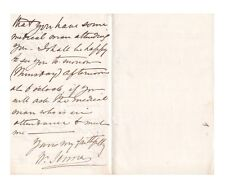 William Jenner English Scientist of Typhoid & Typhus Fevers Autograph Letter!