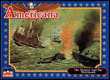 The Monitor And The Merrimack #208 Americana Starline 1992 Trade Card (C265)