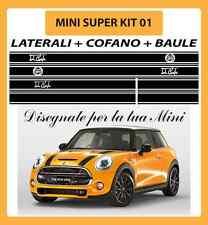MINI ONE, COOPER, COOPER S ADESIVI SUPER KIT 01 COFANO + LATERALI + BAULE