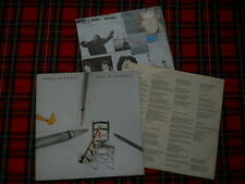"Paul MC CARTNEY Pipes of Peace OIS lyriks LP + poster di dell'LP ""London Town"