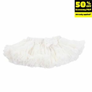 COCCODE Tutu Skirt Size 9M / 72CM Elasticated Waist Bow Detail Ruffle Tiered