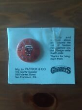 Original S.F. Giants Croix De Candlestick Button (Cardboard Backing)-NEW