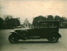Superbe photo ancienne voiture automobile taxi avec chauffeur 1900 / 1920