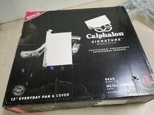 "CALPHALON SIGNATURE SEAR NONSTICK 12"" EVERYDAY PAN & COVER"