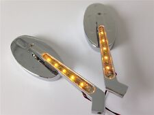 To HOND CBR600 900 929 954 1000RR OVAL Shape LED turn signals Running Mirror