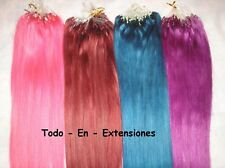 100 Extensiones Micro Ring, PELO NATURAL, Remy , FANTASIA