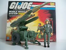 D1000092 MMS MOBILE MISSILE SYSTEM GI JOE 1982 MINTY 100% COMPLETE BOX BP DECALS
