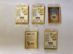 Joblot 5 New & Sealed Pokemon Cards Bundle Ancient Mew Moltres Articuno Zapdos