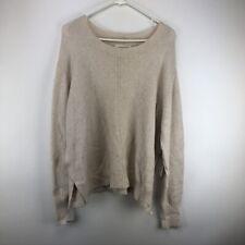 Treasure & Bond Womens Crew Neck Pullover Sweater Top Ivory XL