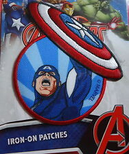 Captain America - Marvel Avengers - Bügelflicken / Iron-On Patch - Disney - 10cm