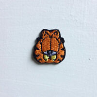 Garfield Animated Cartoon Small Art Badge Iron or sew on Embroidered Patch