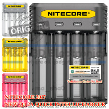 NITECORE Q4 Intellicharger Universal Smart Vape Mods 18650 Battery Black Charger