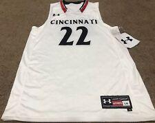 Men's Under Armour #22 Cincinnati Bearcats NCAA Basketball Jersey White NWT