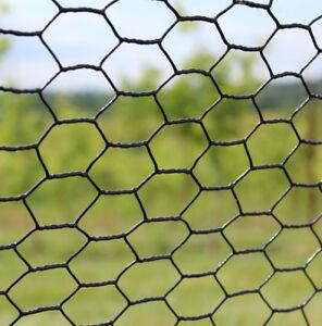 4' x 150' Steel Hex Web Mesh PVC Coated Metal Garden Animal Fence