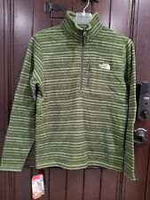 NWT The North Face Men's Novelty Gordon Lyons 1/2 Half Zip Green Stripes Sweater