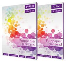 100 Blatt Fotopapier 10x15 cm 180g glänzend fotocards glossy weiß
