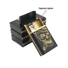 Multifunction Skull Style USB Cigarette Lighter With Case,Flameless Windproof an