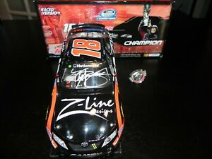 AUTOGRAPHED KYLE BUSCH 2009 #18 Z LINE NATIONWIDE CHAMPION  W/ PIN RACED VERSION