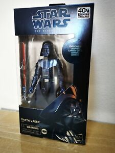 "Hasbro Star Wars The Black Series 6"" Carbonized Darth Vader MISB"