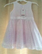 Gorgeous Aged 2 Years White Floral Lace Overlay Summer Dress By Minoti BN