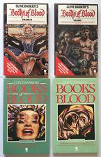 Books of Blood Clive Barker 4vols #1, 3-5 Sphere 1st UK PBs horror terror NICE!!