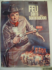 The Quick Gun  LARGE French  Poster AUDIE MURPHY Western 47 BY 63 1964 NEAR MINT