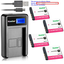Kastar Battery LCD Charger for Sony NP-FT1 FT1 & Sony Cyber-shot DSC-T5/N Camera
