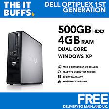 Dell OptiPlex - Dual Core 4gb RAM 500GB HDD Windows XP - Escritorio Pc Ordenador