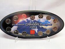 2000 Millennium Collectors Set of 25 Cent Coins, Royal Canadian Mint