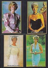 NIGER 1997 15 SOUVENIR SHEETS OF PRINCESS DIANA