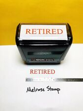 New Listingretired Rubber Stamp Red Ink Self Inking Ideal 4913