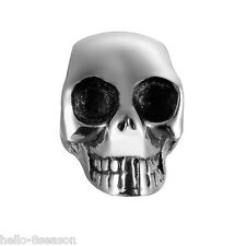 1PC 316L Stainless Steel Retro Silver  Punk Skull Spacer Charm Beads