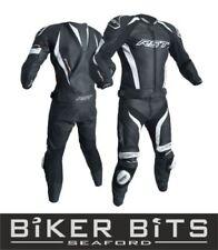 Tute in pelle e altri tessuti due pezzi neri per motociclista taglia XL