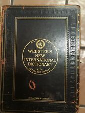 Vintage 1918 Webster's New International Dictionary of the English Language