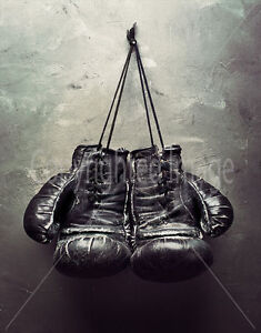BOXING GLOVES LARGE METAL TIN SIGN POSTER WALL PLAQUE