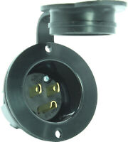 RV & Boat 125V 15A, Outdoor Power Inlet Port - Receptacle Covers 5-15