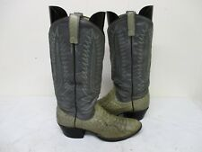 Dan Post Gray Snake Leather Cowboy Boots Size 7 A Style 6708