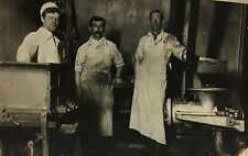 Real Photo Postcard rppc ~ Butchers ~ Men At Work In Butcher Shop ~ Occupation