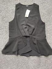 River Island Ladies Black Sleeveless Shirt blouse Top Size 8