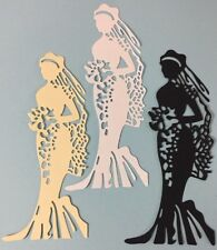 "BEAUTIFUL BRIDE Die-Cuts(3pc)Approx.5-3/4""x 2.5""Wedding•Rings •Dress•Ceremony•••"