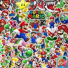 50pcs/set Cartoon Super Mario Pattern Stickers Toys Luggage Laptop Sticker Decal