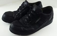 MEPHISTO Mens Sport Shoes Size 10 Black Leather Run-off Laces Rubber Soles