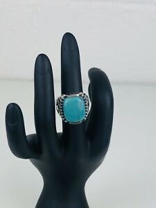 Silpada Turquoise Sterling Silver Ring Filigree Southwestern Size 4.75 R1807